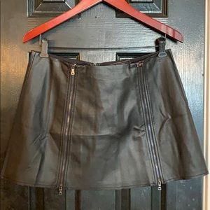 BCBGMaxazria faux leather mini skirt medium